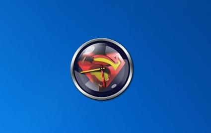 Гаджет часы Супермен для Windows 7 и 8