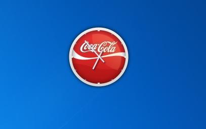 Гаджет часы Coca-Cola для Windows 7 и 8