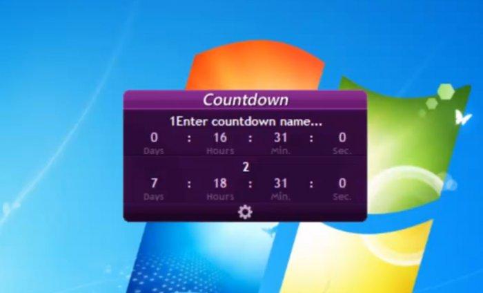 Гаджет на рабочий стол счетчик событий для Windows 7 и 8