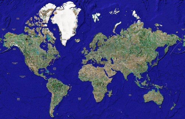 Подробное описание карты Гугл Спутника